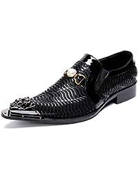 YAN Scarpe da Uomo Business Scarpe Casual Tacco a Blocchi Scarpe Eleganti  Nere Scarpe Basse a 0aedc08e3f4