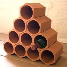 Casier a vins terre cuite - Range bouteille en brique ...