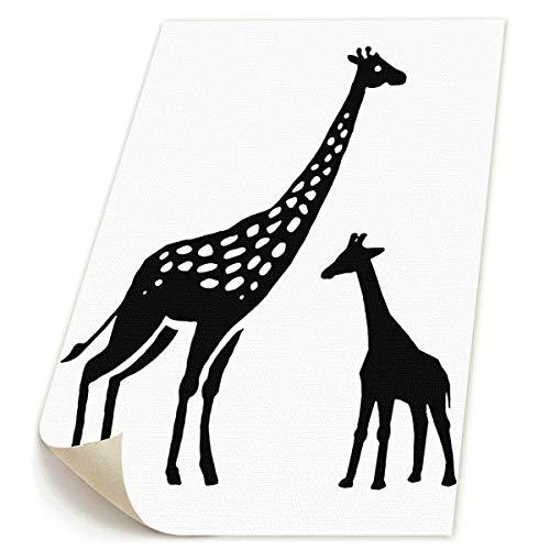 (SDGYGSNi Giraffe Kunst, handbemalte Landschafts-Blumen-Wandkunst, abstrakte Palette, weiße Kirschblüte, Ölgemälde auf Leinwand, Familienzimmer, Wohnzimmer, Wanddeko, gespannt und gerahmt)
