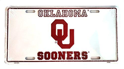 HangTime Oklahoma Sooners geprägt Aluminium Automotive Neuheit License Plate Tag Sign. -