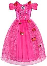 JerrisApparel Nuevo Vestido de niña Ceremonia Princesa Disfraz con Mariposa