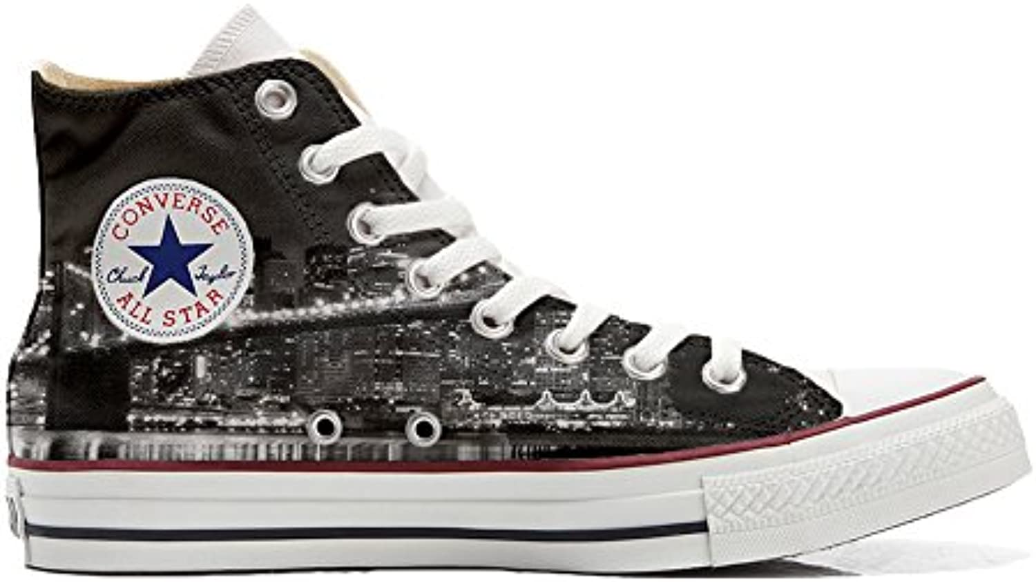 Converse All Star (Handwerk Hi Customized personalisierte Schuhe (Handwerk Star Schuhe) NY Night 1b1539