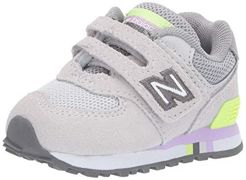 New Balance Baby Mädchen 574 Sneaker, Grau Summer Fog, 27.5 EU -