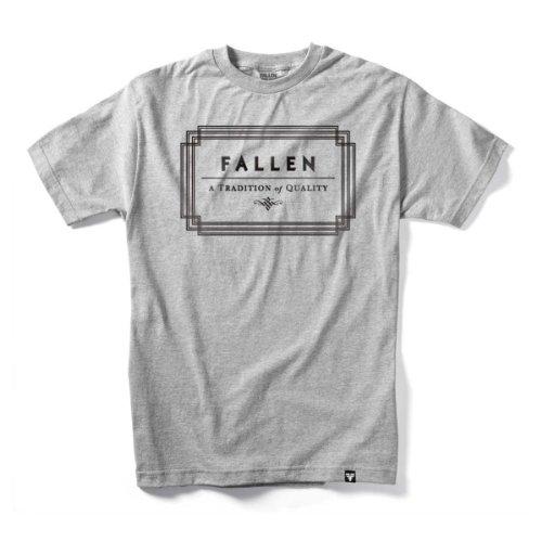 FALLEN T-Shirt VERTE S/S Heather Grey/Black