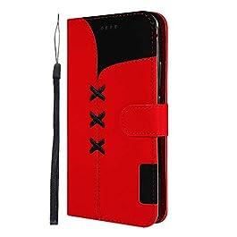 Docrax [Huawei Mate 20 PRO Cover, Custodia Portafoglio in Pelle Porta Carta di Credito con Funzione di Supporto di Stand…