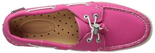 Sebago Docksides, Chaussures Bateau Femme Fuchsia Neoprene