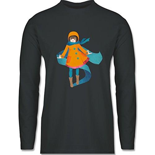 Shirtracer Statement Shirts - Herbstspaziergang - Herren Langarmshirt Dunkelgrau