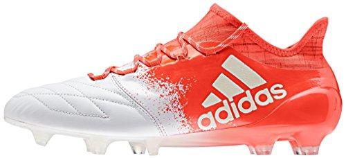 adidas X 16.1 Fg, Chaussures de Football Entrainement Femme Blanc (Ftwr White/Ftwr White/Solar Red)