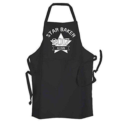 personalised-unisex-star-baker-black-kitchen-cooking-apron-personalised-with-a-name-of-your-choice