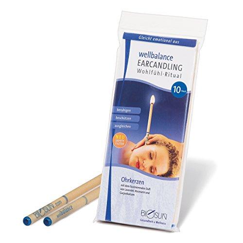 *10 Stück (5 Paar) BIOSUN wellbalance Ohrkerzen/Ohrenkerzen mit Sicherheits-Filter. Faszinierender Duft von Lavendel, Rosmarin und Gurjunbalsam*
