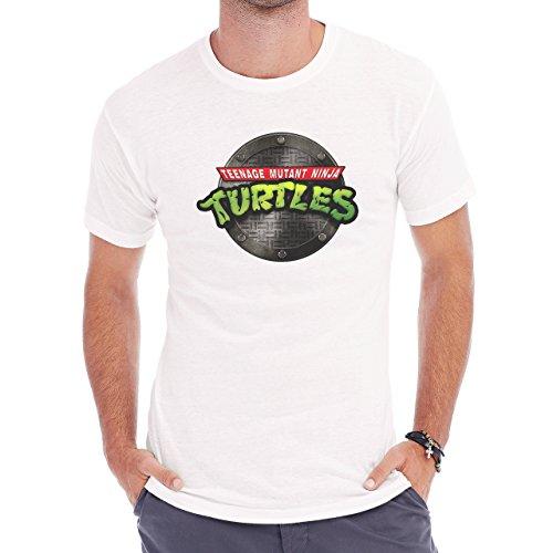 Teenage Mutant Ninja Turtles Classic Logo Herren T-Shirt Weiß