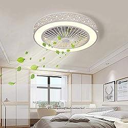 MFSNY Ventilateur De Plafond Moderne avec Éclairage Télécommande Ultra-Silencieux Économie D'énergie Plafonnier À LED Réglable Ventilateur De Plafond Silencieux pour Chambre d'enfants Chambre Salon