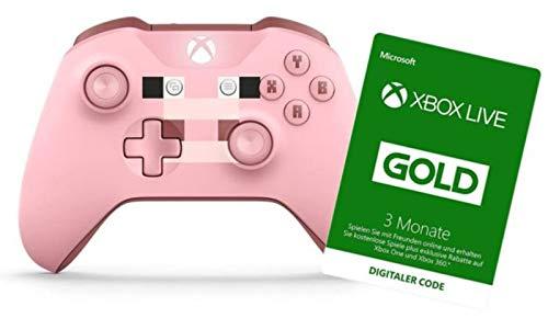 Xbox Wireless Controller, Minecraft Rosa, Limited Edition + Xbox Live 3 Monate