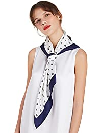 LILYSILK Foulard Imprimé en Soie Femme Hiver Floulard Carré Elégance en Pure  Soie Chaud Taille Unique 16MM… 997925de1fbf
