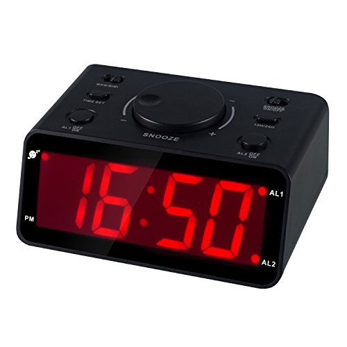 Kwanwa Recordable Message Dual Alarm Clock Reminder With 15s Voice Recorder and 1.2