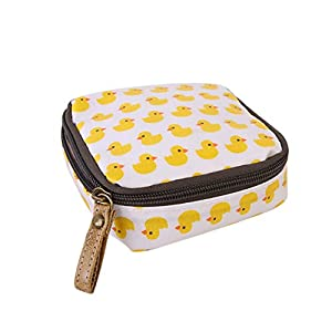Gluckliy Mini Cosmetic Bag Makeup Pouch Sanitary Napkin Holder Storage Zipper Coin Purse Handbag