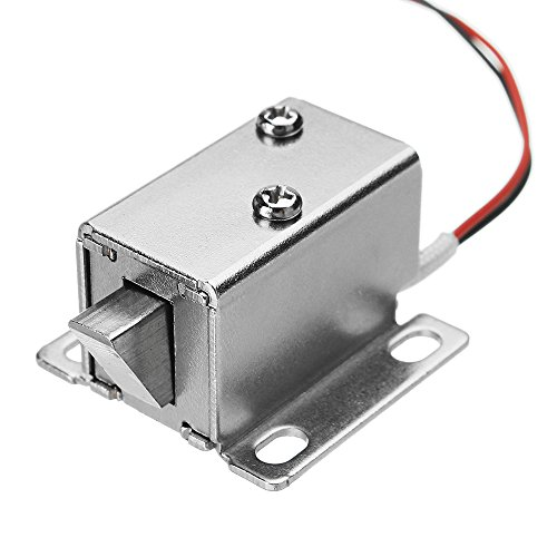 DyNamic 12V Dc 0.43A Cabinet Electric Lock Assembly Solenoid Drawer Door Lock 27X29X18Mm (Lock Door Assembly)