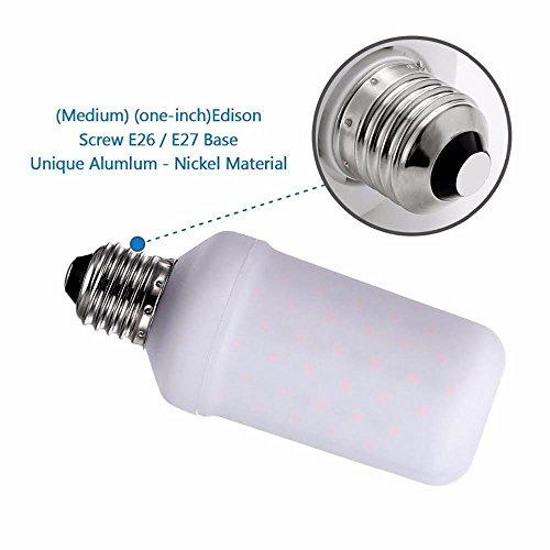 LED Efecto llama fuego luz bombilla, PAWACA E261500K parpadeo Vintage imitación de ambiente iluminación para el hogar, bares, Hotel, Festival de Navidad