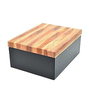 Gifts 4 All Occasions Limited SHATCHI-1266 Shatchi - Cajas de almacenamiento con tapas azules (6 unidades), decoración del hogar, regalos de Navidad, suministros para fiestas 11682