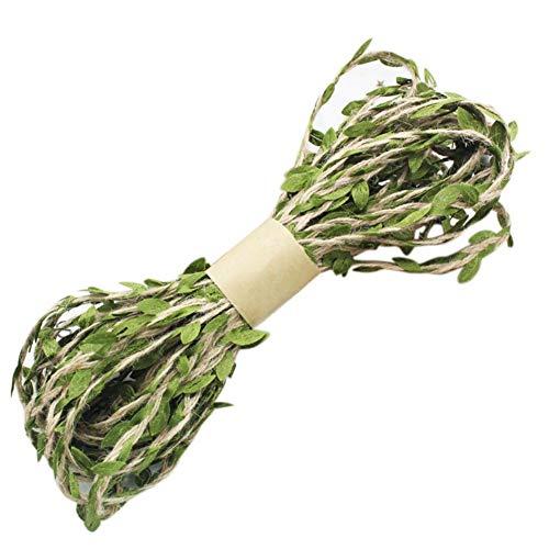 Künstliche Green Leaf Vine DIY Simulation Weidenweidenblatt Reben Band für Hauptdekoration, Gewebte Girlanden, Grün -