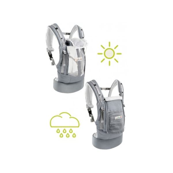 """Je Porte Mon Bébé The physiocarrier jpmbb Elephant Je Porte Mon Bébé thermo-ventilation 4Seasons, """"which zip Seat of the baby from birth with the physiological Booster expansion pack * (* option: Booster Seat and Head Support Cushion) Belt and comfortable wide shoulder straps and respirâtes 3"""