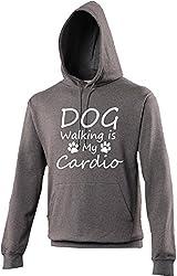 Dog Walking Is My Cardio Novelty Hoodie