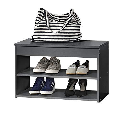 [en.casa]®] Estantería de Zapatos 70 x 30 x 45cm Zapatero Almacenamiento de Zapatos Pasillo Banco...