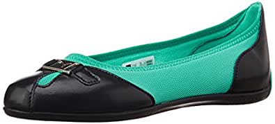 Puma Women's Saba Ballet DP Black and Atlantis Rubber Ballet Flats - 4 UK/India (37 EU)