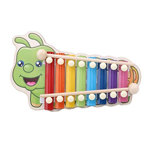 Pinhan Kind Baby Musical Spielzeug Tier 8-Note Xylophon Kinder Instrument Weisheit Entwicklung, Raupe