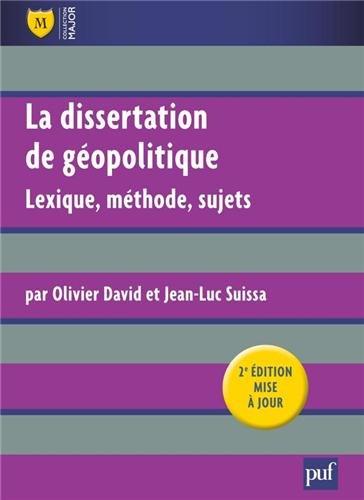 La dissertation de géopolitique