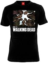 T-shirt Walking Dead Walkers rôdeurs pour homme coton noir