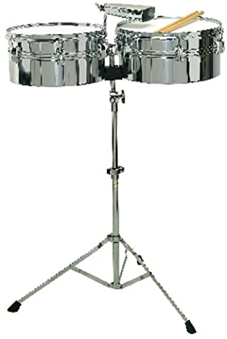 BSX Timbales Set inkl. Stand und Cowbell
