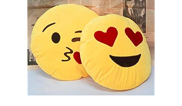 Babique Smiley Emoji Pillow Cushion Soft Toys Stuffed Plush Combo