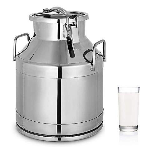 TUDIO Milchkanne Transportkanne Kanne Edelstahlkanne 20 Liter mit Steckdeckel