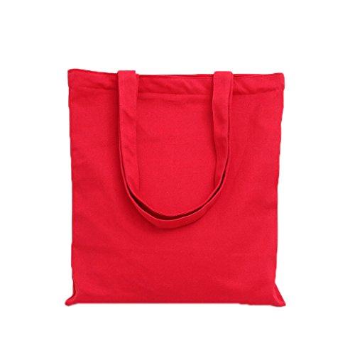 LUFA Normallack Schulter Beutel kleine frische Einkaufstaschen Kursteilnehmer Rot mit einfacher Schicht