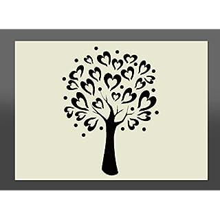 Heart Tree Mylar Stencil A4 297x210mm Wall Art, Furniture Stencil, Fabric Stencil