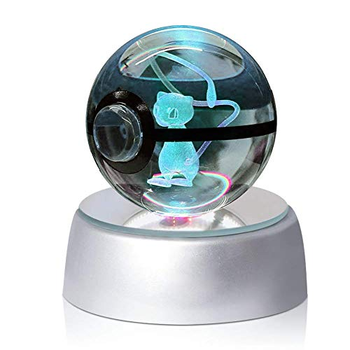 Lámpara nocturna con forma de bolsa de cristal y luz LED (50 mm).