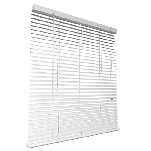 LEVIVO Persiana de Aluminio, Metal, Blanco, 80 x 220 cm