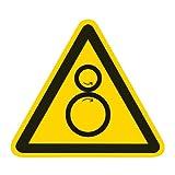 Warnung vor Einzugsgefahr Kunststoff 100 mm