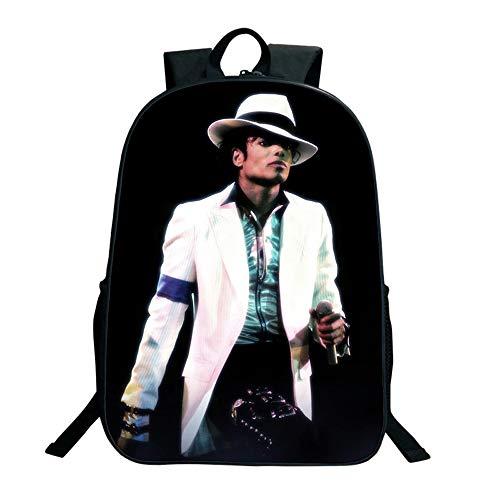 SJYMKYC Michael Jackson BAD Rucksack USB Ladetasche Männer Und Frauen Rucksack Reisetasche Computertasche (Reißverschluss Jackson Michael)