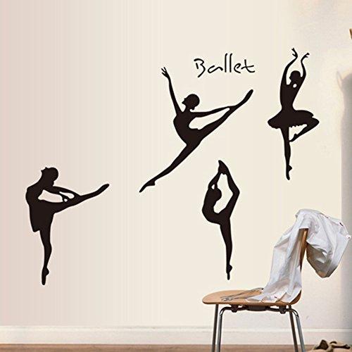 Balletto Girl adesivi murali per Camera da letto Soggiorno Studio di ...