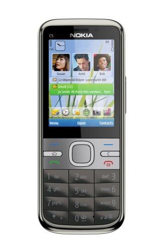 Nokia C5-00, 5MP , 1GHz, Handy, warm grey EU ohne Simlock, ohne Branding, ohne Vertra -