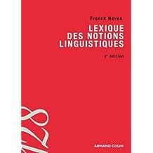Lexique des notions linguistiques (Lettres)