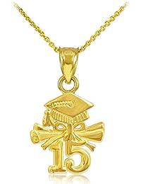 fa4f875d683f 10 quilates 471 1000 Oro 2015 Graduación del encanto del collar