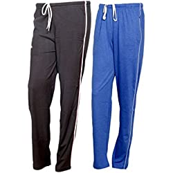 Indistar Women Premium Cotton Lower with 1 Zipper Pocket and 1 Open Pocket(Pack of 2)_Brown::Blue-42