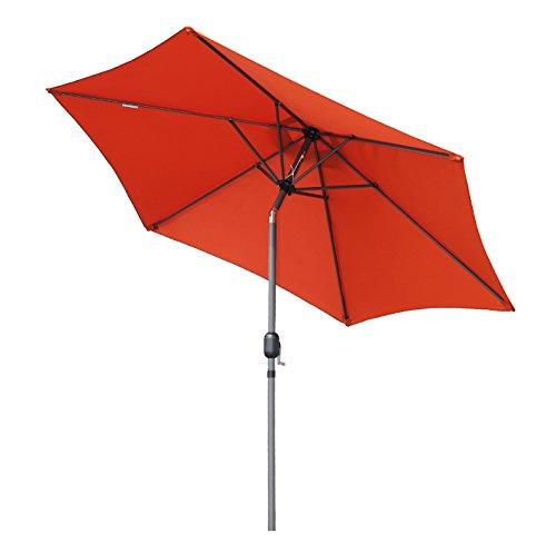 Angel Living 270cm Rond Aluminium Parasol inclinable Parasol de jardin, Empêche de La Lumière Solaire Directe et Anti-ultraviolet (Terrre cuite)