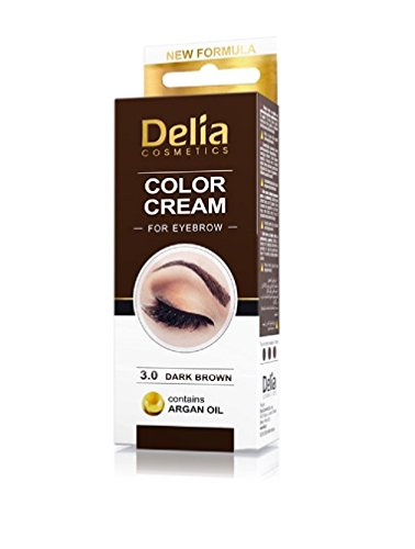 Delia Colour Cream for Eyebrow Brown 3.0 with Argan Oil