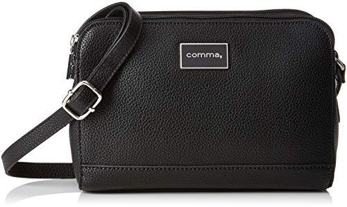 comma Damen Pure Elegance Shoulderbag Shz Schultertasche, Schwarz (Black), 5x19x22 cm