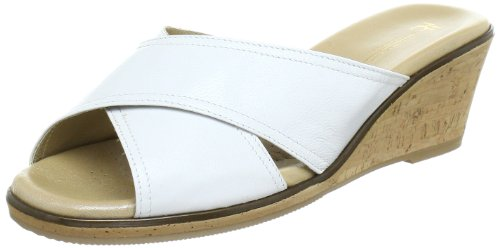 Hans Herrmann Collection 151457-6020, Mules femme Blanc (Weiss)