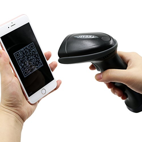 Upgraded TEEMI TMSL-55 QR Bluetooth Barcode Scanner USB Wireless Automatic  2D PDF417 Data Matrix Image Reader for Apple iOS, Android, Windows 10, Mac